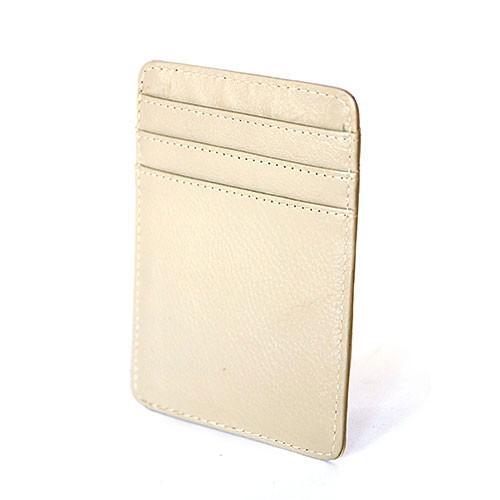 Kartencase BEIGE HOCHKANT, Nappaleder