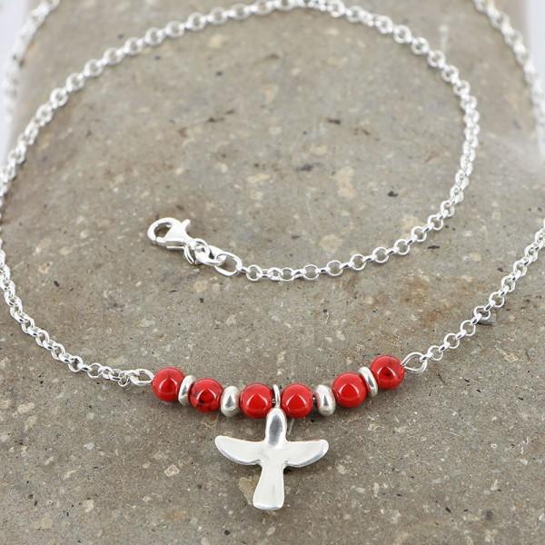 Halskette KOLIBRI, 950er Silber