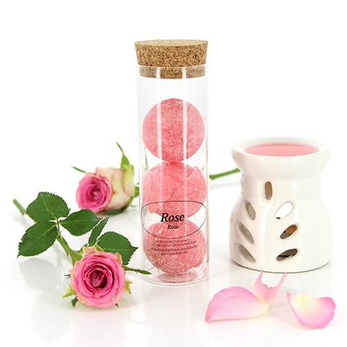 Duft-Halbkugel ROSE, im Glas-Zylinder