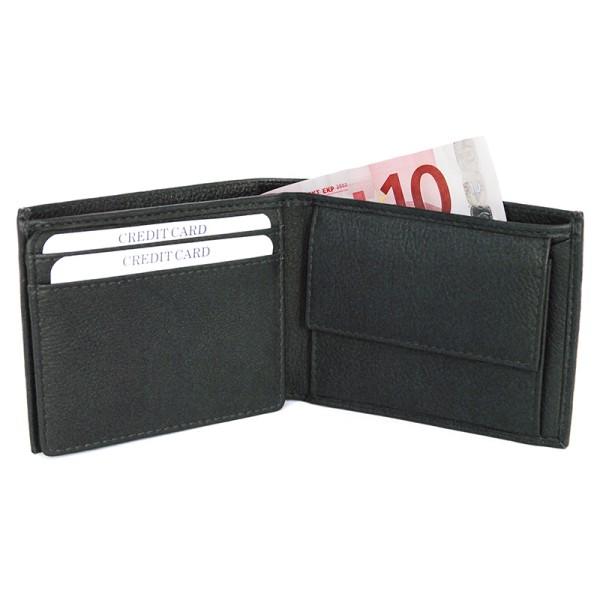 Geldbörse VENEZIA NERA, Nappa-Rindleder