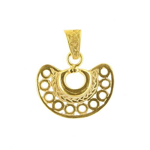 Anhänger KIMAMA, 925er Silber, vergoldet