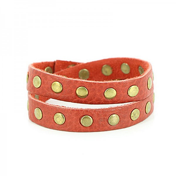 Armband RIVET, Recycling-Leder