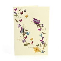 Grusskarte SCHMETTERLINGSTANZ, Wildblumen