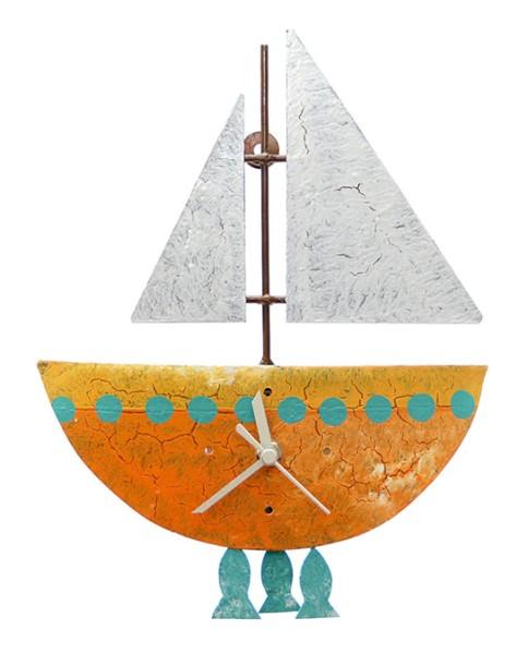 Wanduhr FISCHERBOOT, Metall
