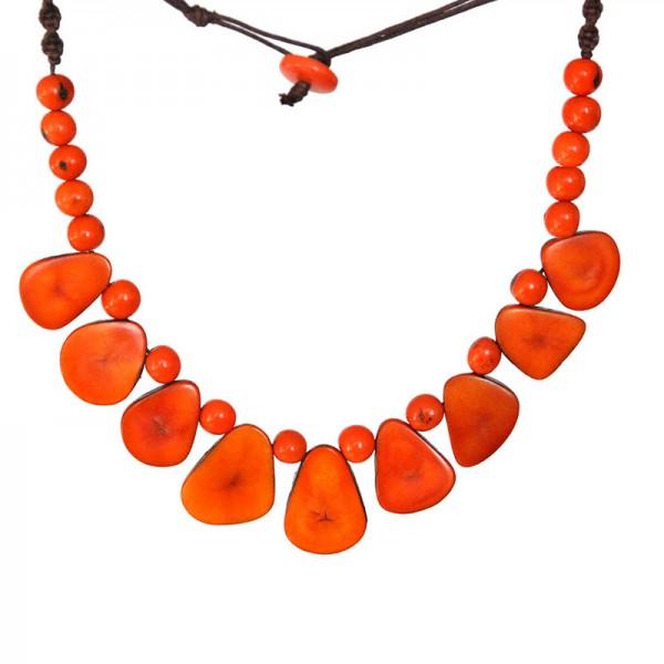 Halskette DINA, Tagua-Nuss/Asahi