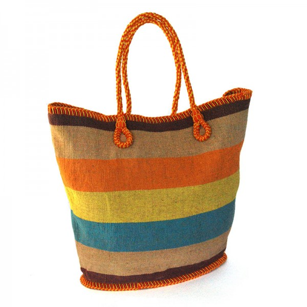 Shopper BEACH Baumwolle mit Jute