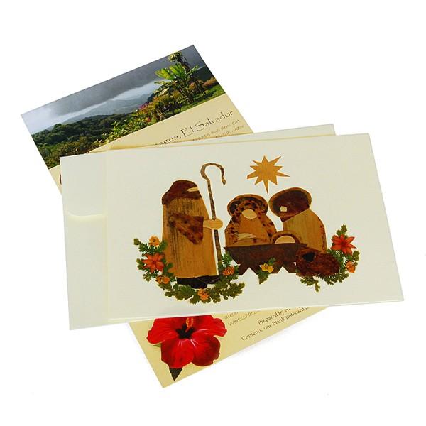 Grußkarte KRIPPE GROSS, Wildblumen