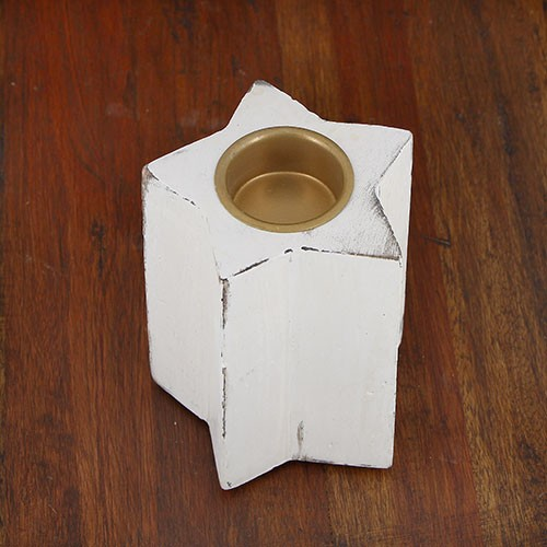 Teelichthalter STERN, Mangoholz