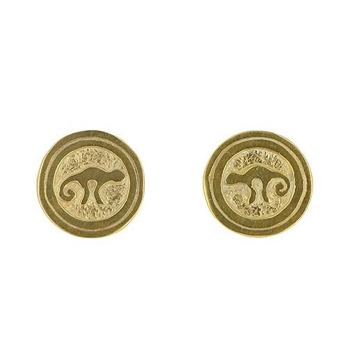 Ohrstecker CHOLENA, 950er Silber, vergoldet