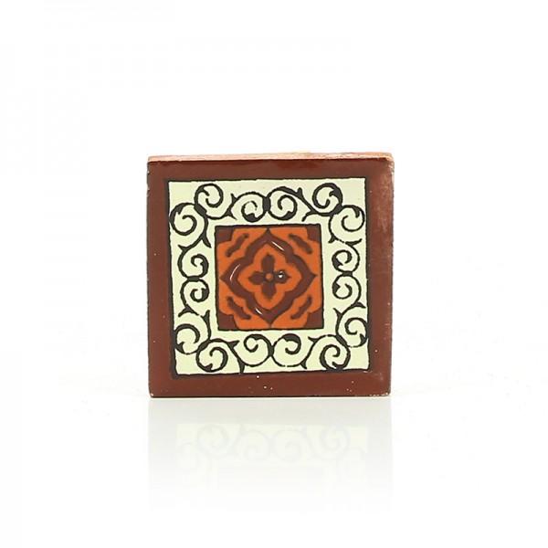 Mini-Fliese BARCELONA CHOCOLATE, Keramik