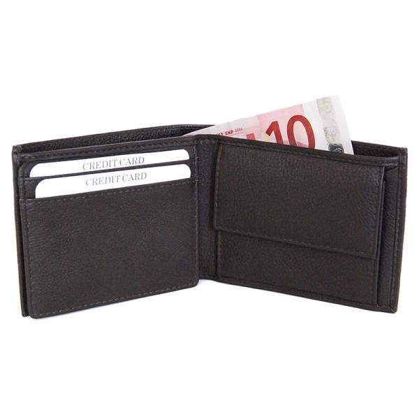 Geldbörse VENEZIA CIOCCOLATA, Nappa-Rindleder