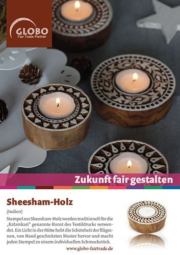 Plakat SHEESHAM-HOLZ, DIN A1