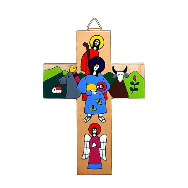 Kreuz MARIA UND JOSEF, Holz