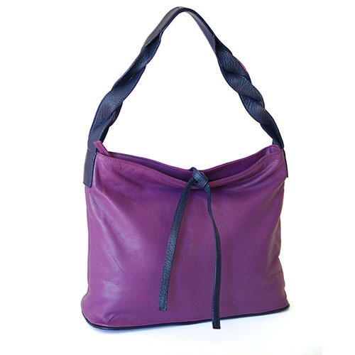 City-Bag LAETICIA VIOLA, Nappaleder