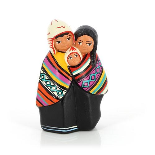 Figur HEILIGE FAMILIE, Keramik