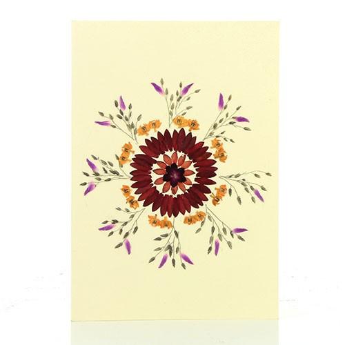 Grußkarte FEUERWERK, Wildblumen