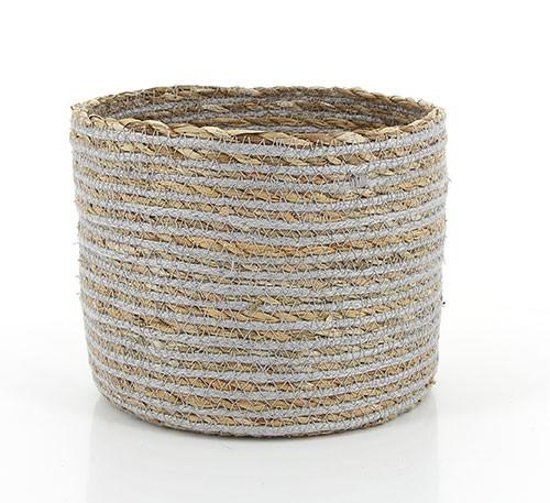 Korb BRISE GRAU, Hogla/Baumwolle