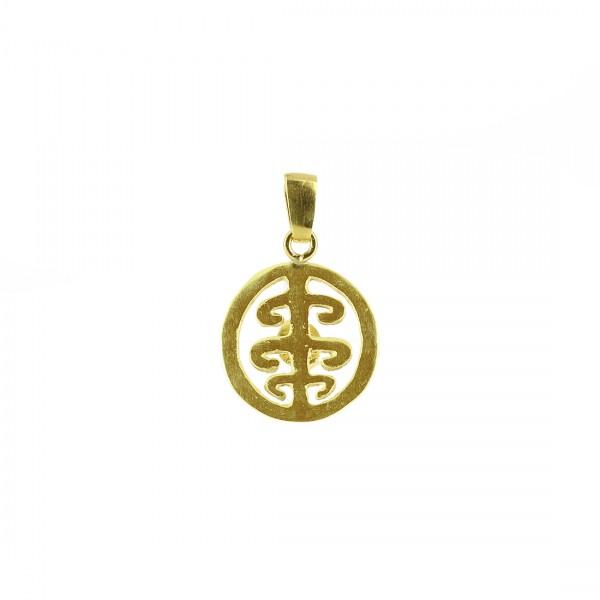 Anhänger DOLI, 925er Silber, vergoldet