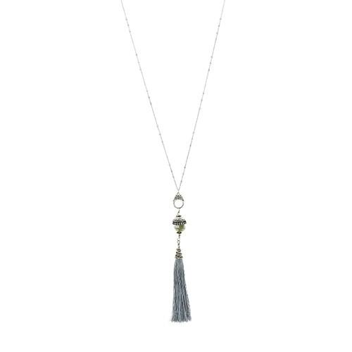 Halskette SERAFIN, Messing/Glas