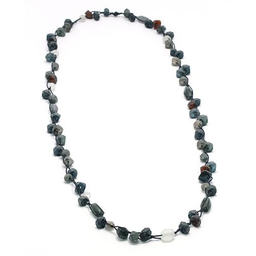 Halskette BERNSTEINRAUCH, Recycling-Glas