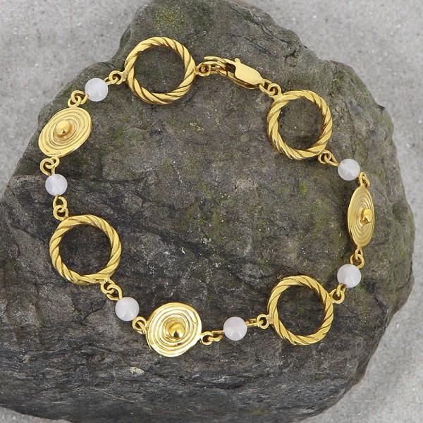 Armband POLOMA, 925er Silber, vergoldet