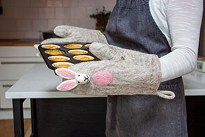 Ofenhandschuhe-Hase