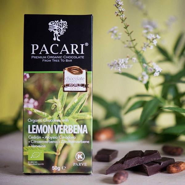Bio-Schokolade PACARI ZITRONENVERBENE, 60% Kakao