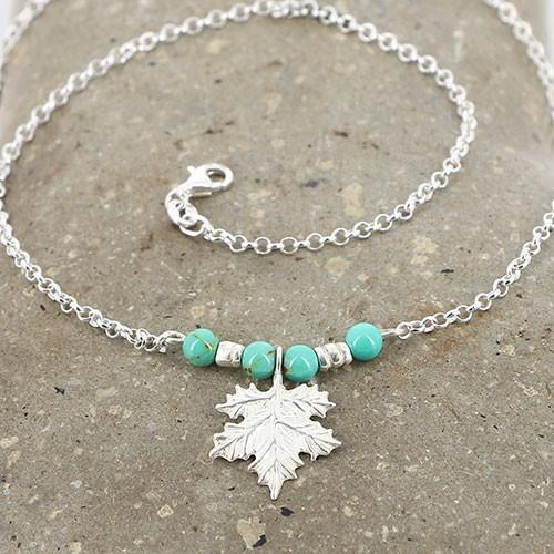 Halskette AHORN, 950er Silber