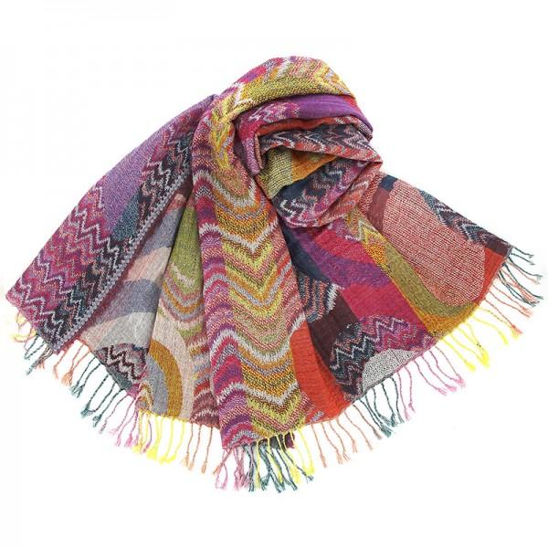 Schal REINA, Wolle/Baumwolle