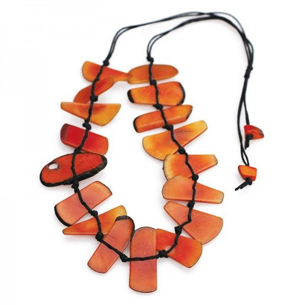 Halskette ESCUDO, Tagua-Nuss
