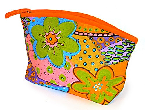 Kosmetiktasche FLOWER POWER, Baumwolle