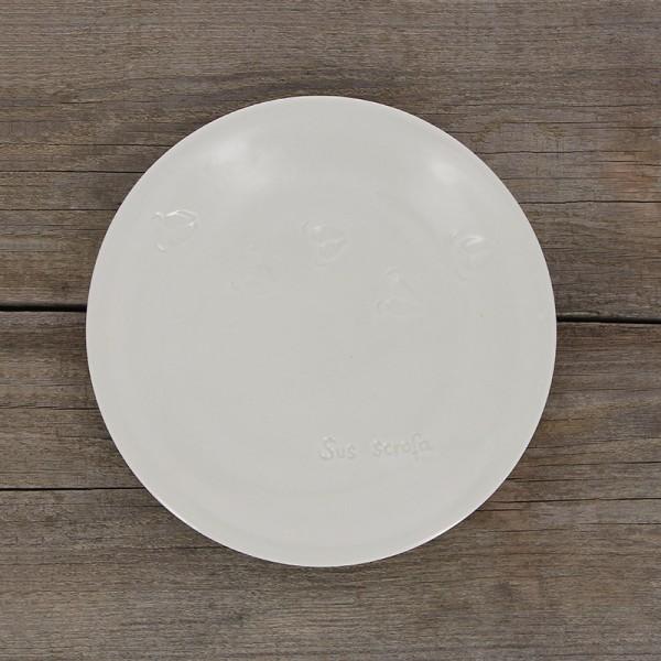 Frühstücksteller WILDSCHWEINSPUREN, Porzellan