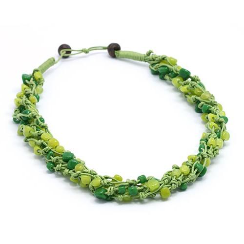 Halskette REGENWALD, Recycling-Glas