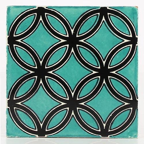 Fliese LEYVIN NEGRO 10 x 10, Keramik