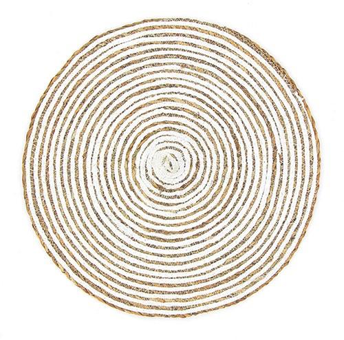 Tischset SPIRALE WEISS, Hogla/Baumwolle
