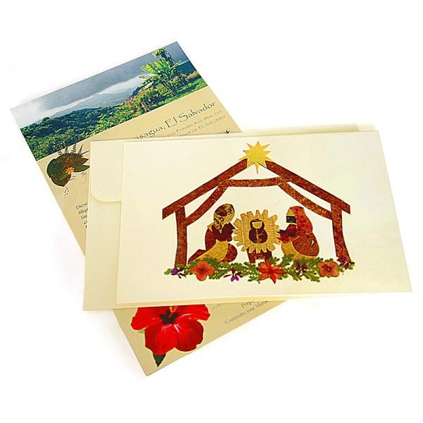Grußkarte KRIPPE, Wildblumen