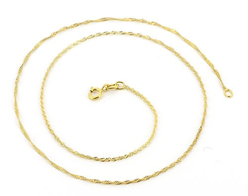 Halskette EDEN, 925er Silber, vergoldet