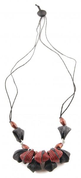 Halskette MUSCHEL, Baumwolle