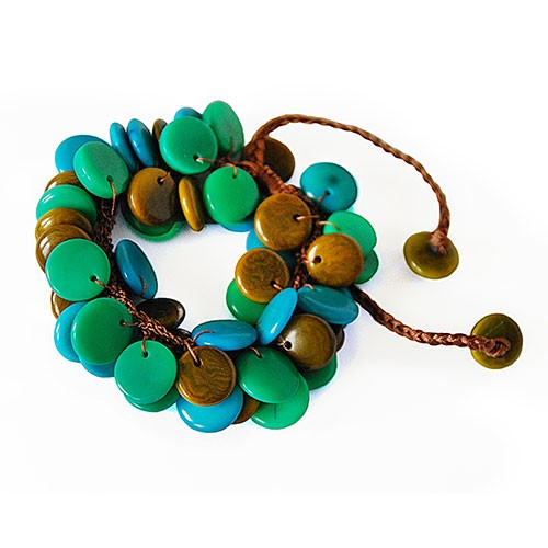 Armband DROPPE, Tagua-Nuss