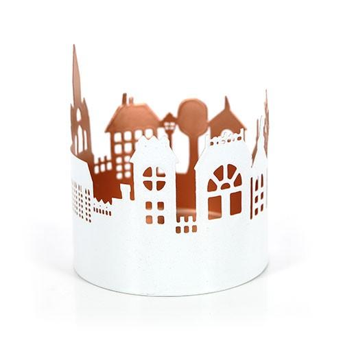 Windlicht CITY, Eisenblech