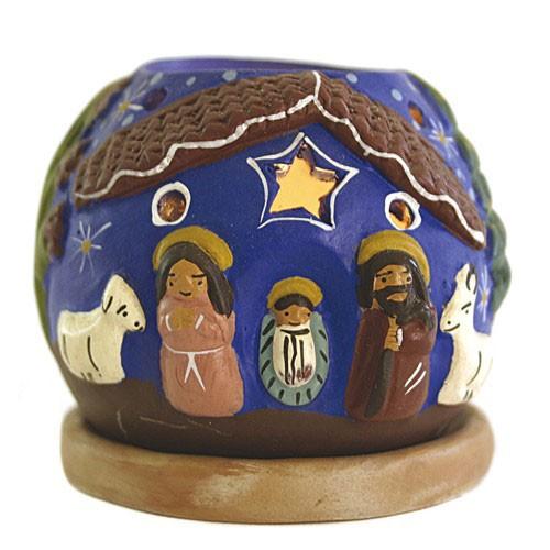 Windlicht KRIPPE, Keramik