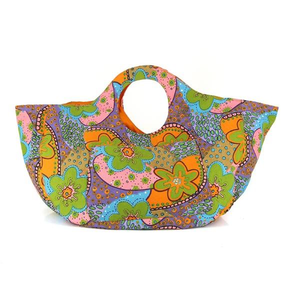 Strand-Tasche FLOWER POWER, Baumwolle