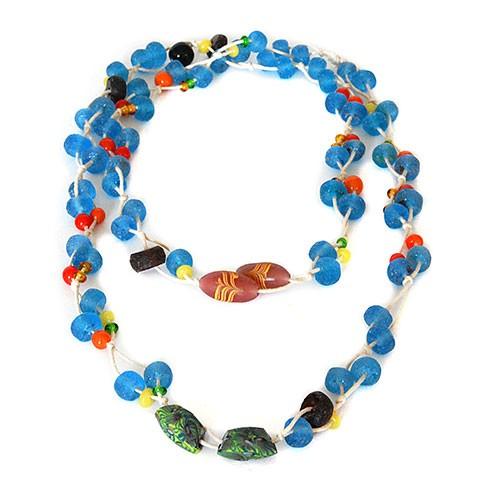Halskette SOMMERREGEN, Recycling-Glas