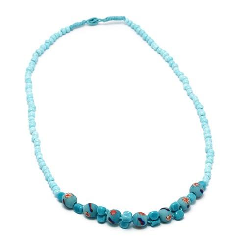 Halskette WINDHAUCH, Glas/Keramik