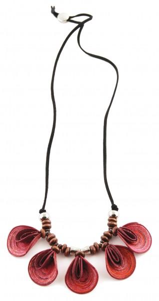 Halskette BLUMENBLATT, Baumwolle