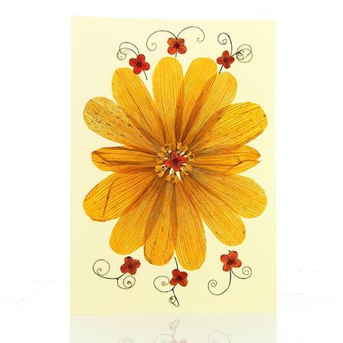 Grusskarte MANDALA, Wildblumen