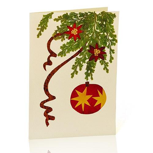 Grusskarte KUGEL, Wildblumen