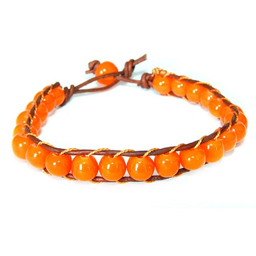 Armband ORANGE, Recycling-Glas