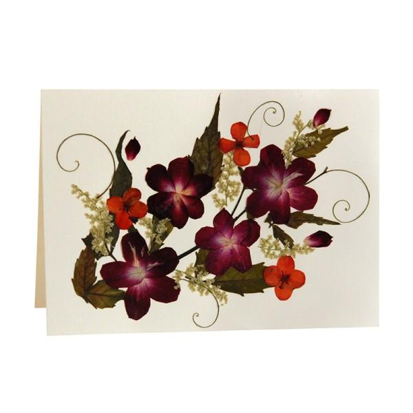 Mini-Grusskarte VIOLA, Wildblumen