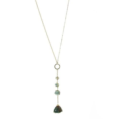 Halskette LEVITATE, Messing/Achat